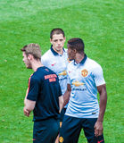 Joueurs de Manchester United Photo libre de droits