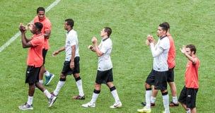 Joueurs de Manchester United Photos libres de droits