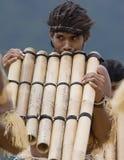 Joueurs de pipeau de carter d'îles Salomon Image libre de droits