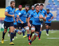 Joueurs de rugby Image libre de droits