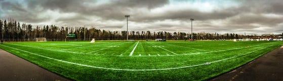 Joueurs de sport de lacrosse dans le domaine photo libre de droits