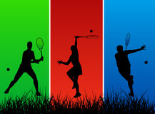 Joueurs de tennis Photo stock