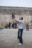 Joueurs en pierre de serrure Images libres de droits