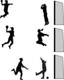 Joueuse de femme de handball Photo libre de droits