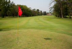 Jouez au golf field Photographie stock