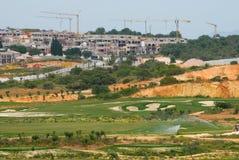 Jouez au golf la construction complexe Photo stock