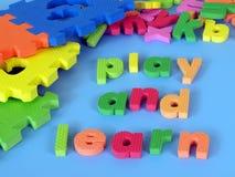 Jouez et apprenez photo libre de droits