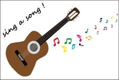 Jouez la guitare illustration de vecteur
