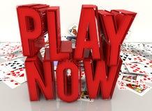Jouez maintenant et cartes Image libre de droits