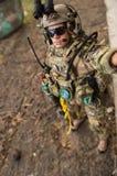 Jouez réaliste miniature de nombre d'actions de soldat d'échelle de l'homme 1/6 Photos libres de droits