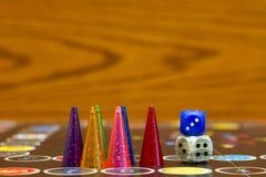 Joug de table avec des puces et découpé Photo libre de droits
