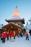 Joulupukki office. Santa Claus office in Santa Village near Rovaniemi, Lapland, arctic circle Royalty Free Stock Image