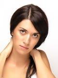 Joung schönes Frauen-Gesicht Stockfotografie