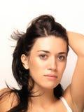 Joung schönes Frauen-Gesicht Stockfotos
