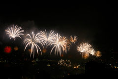 Jounieh festival fireworks display. Royalty Free Stock Image