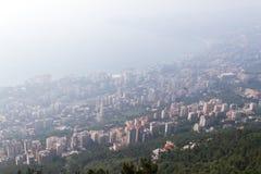 Jounieh zatoka w północnym Lebanon obraz stock