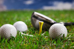 Jouons un rond du golf ! Photo libre de droits