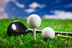 Jouons un rond du golf ! Photographie stock libre de droits