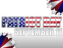 Jour/11 septembre de patriote Photographie stock libre de droits