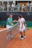 Jour 2, cuvette 2012 d'équipe du monde de cheval de pouvoir de tennis Images libres de droits