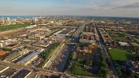 Jour aérien de l'Illinois Chicago banque de vidéos