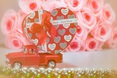 Jour, amour et coeur de valentines Image libre de droits