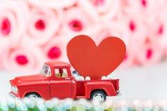 Jour, amour et coeur de valentines Photos stock