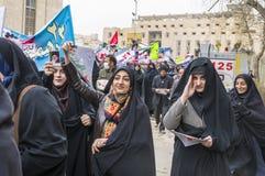 Jour annuel de révolution dans Esfahan, l'Iran Images stock