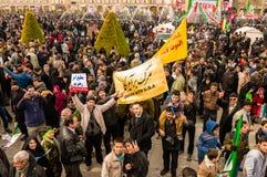 Jour annuel de révolution dans Esfahan, l'Iran Photographie stock libre de droits