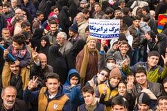 Jour annuel de révolution dans Esfahan, l'Iran Photos libres de droits