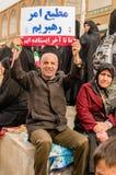 Jour annuel de révolution dans Esfahan, l'Iran Image stock