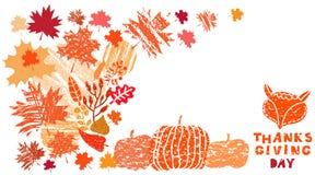 Jour banner3 de thanksgiving illustration stock