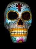 Jour bleu du masque mort photographie stock libre de droits