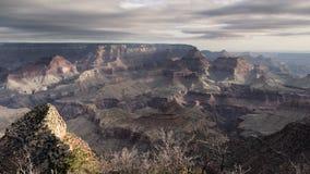 Jour brumeux de parc national de canyon grand Photographie stock libre de droits