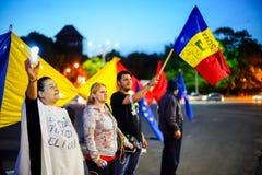 Jour 96, Bucarest, Roumanie de protestation Photo stock