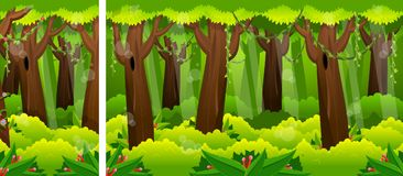 Jour chez Forest Video Game Background Image stock