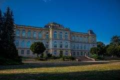 Jour confortable dans le paysage de parc dans Gotha images stock