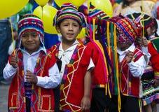 Jour d'éducation du Pérou Images stock