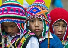 Jour d'éducation du Pérou Images libres de droits