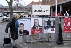 JOUR D'ÉLECTION DE DENMARK_LOCAL Images libres de droits