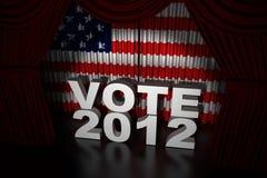 Jour d'élection Etats-Unis 2012 Image libre de droits