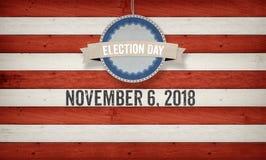 Jour d'élection 2018, fond de concept de drapeau américain des USA Photos stock