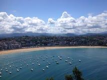 Jour d'été dans San Sebastian image stock