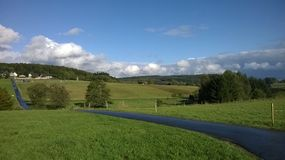 Jour d'été dans Westerwald Image libre de droits