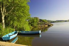 Jour d'été sur le lac image libre de droits