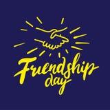 Jour d'amitié Inscription tirée par la main de vecteur d'isolement illustration libre de droits