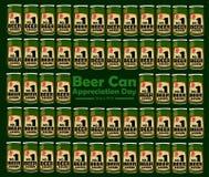 Jour d'appréciation de canette de bière illustration stock