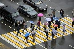 Jour d'automne à Moscou Photos libres de droits