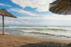 Jour d'automne sur la Mer Adriatique montenegro image stock