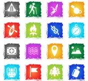 Jour d'ensemble d'icône de skouts Photos stock